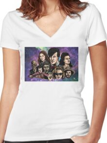 11th Dr. Who  Women's Fitted V-Neck T-Shirt
