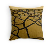 Metal desert Throw Pillow