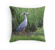 Yellow Crowned Night Heron Throw Pillow