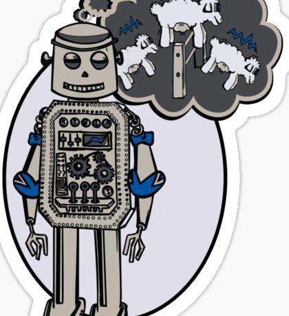 Robots and Sheep Sticker