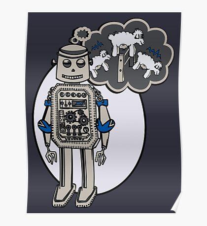 Robots and Sheep Poster