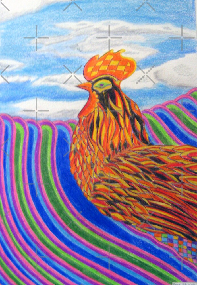 237 - HEN DESIGN - DAVE EDWARDS - COLOURED PENCILS - 2008 by BLYTHART
