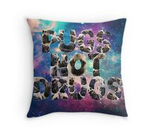 Pugs Not Drugs In Space Throw Pillow
