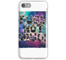 Pugs Not Drugs In Space iPhone Case/Skin