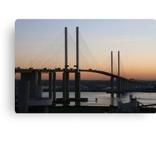 Sunset  Queen Elizabeth bridge Canvas Print