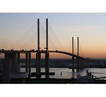 Sunset  Queen Elizabeth bridge Photographic Print