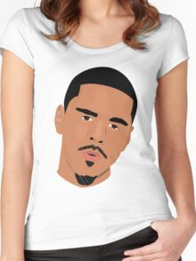 Hip Hop Portrait 3 Women's Fitted Scoop T-Shirt