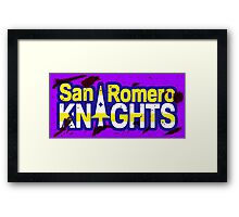 Bloody San Romero Knights With Purple Outline Framed Print