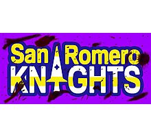 Bloody San Romero Knights With Purple Outline Photographic Print