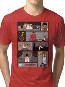 D.Rose Rises 'The Return' Comic Tri-blend T-Shirt
