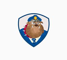 Bulldog Policeman Shield Low Polygon Unisex T-Shirt