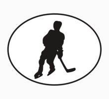 Hockey Player Silhouette Oval Kids Clothes