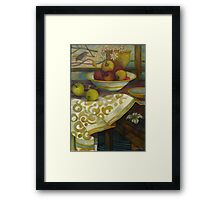 outside it's cold Framed Print