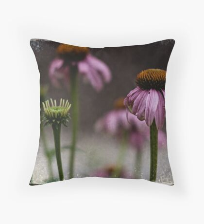 Purple Cone Flower Throw Pillow