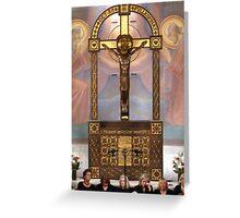 Crucifix in Art Nouveaux Greeting Card