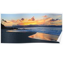 Sunset at Watego's Beach III Poster