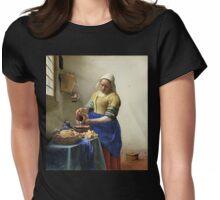 Het melkmeisje, Johannes Vermeer, ca. 1660 Womens Fitted T-Shirt