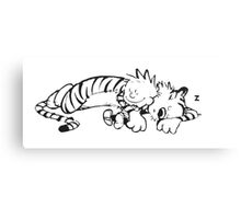 Calvin & Hobbes Sleeping Canvas Print