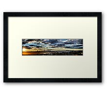 Windy sunset Framed Print