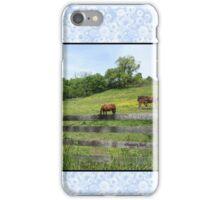 Springtime in a Peaceful Pasture iPhone Case/Skin