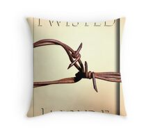 Twisted Inside Throw Pillow