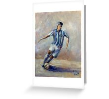 The football player (2) Greeting Card
