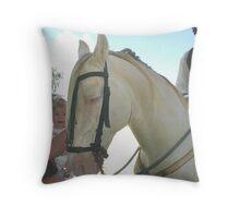 Cremello Andalusian  Throw Pillow