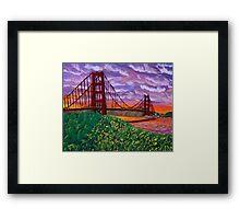 Golden Gate Bridge at Sunset Framed Print