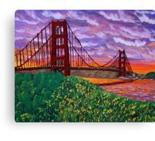 Golden Gate Bridge at Sunset Canvas Print