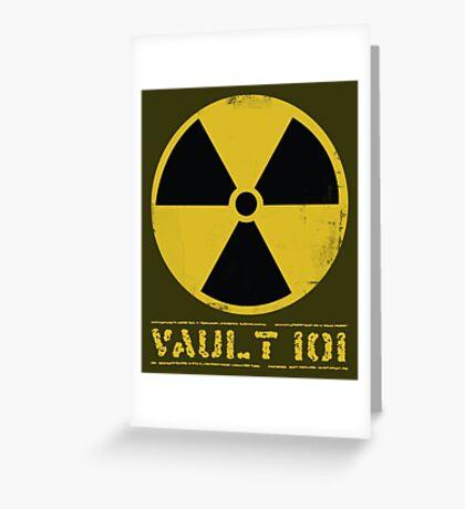 Vault 101 Greeting Card