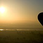 Hot Air Balloon Silhouette by Sekans