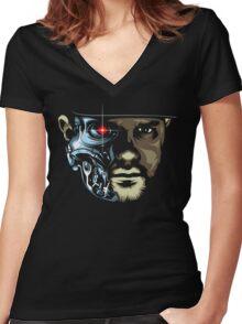 Necro - Terminator Women's Fitted V-Neck T-Shirt