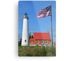 All American Lighthouse Metal Print
