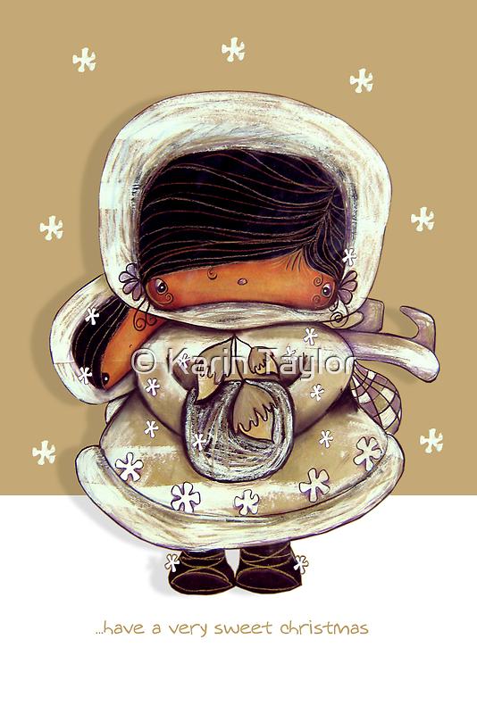 Christmas Card Snow Flower by © Karin  Taylor