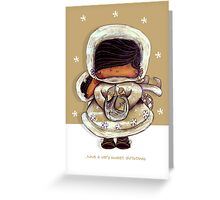 Christmas Card Snow Flower Greeting Card