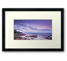 Moonrise over Sea Framed Print