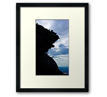 Teeth of the Mountain Framed Print