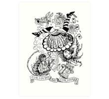 Curiouser and Curiouser Art Print