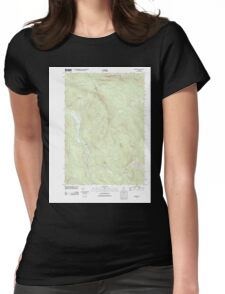 Maine USGS Historical Map Roxbury 20110902 TM Womens Fitted T-Shirt