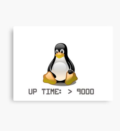 Linux - Uptime Over 9000 Canvas Print
