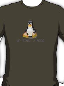 Linux - Uptime Over 9000 T-Shirt