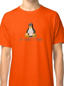 Linux - Uptime Over 9000 Classic T-Shirt