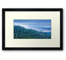 Forest and Mountains Framed Print