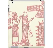 men dressed as fish, man holding an ostrich iPad Case/Skin