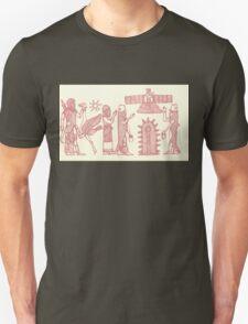 men dressed as fish, man holding an ostrich T-Shirt