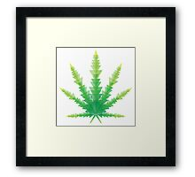 cannabis triangles Framed Print