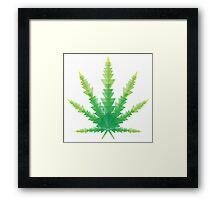 cannabis triangles Framed Print