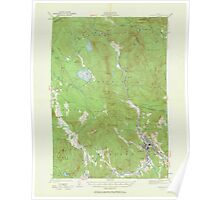 Maine USGS Historical Map Rumford 306744 1927 62500 Poster