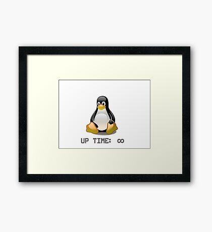 Linux - Uptime Infinity Framed Print