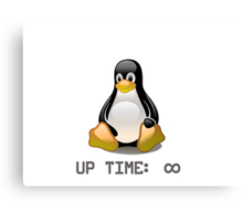 Linux - Uptime Infinity Canvas Print
